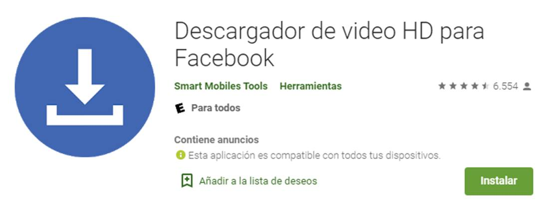 descargar facebook video downloader