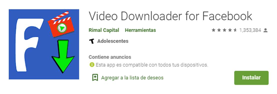 descargar videodownloader for facebook