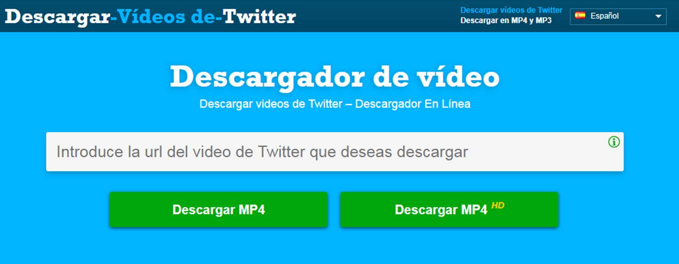 inicio de download twitter video