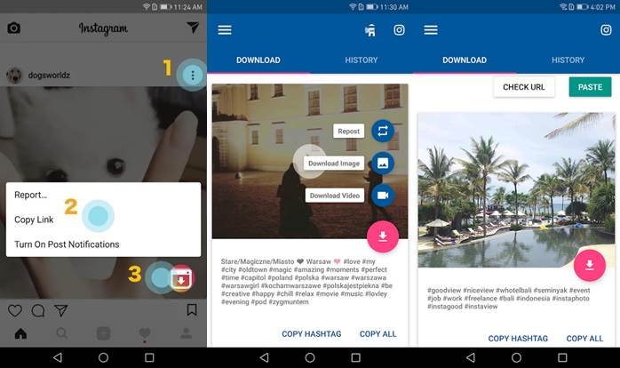 pasos para descargar en video downloader for instagram